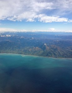 over the epicentre - off Cook Strait