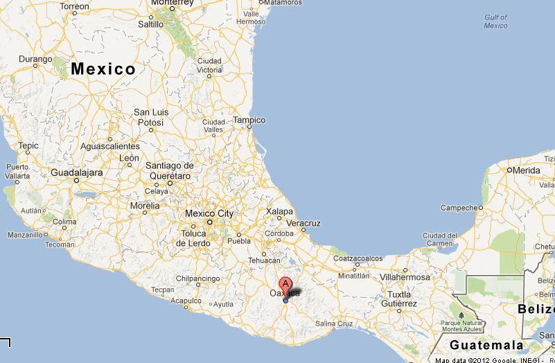 Oaxaca City Map Mexico