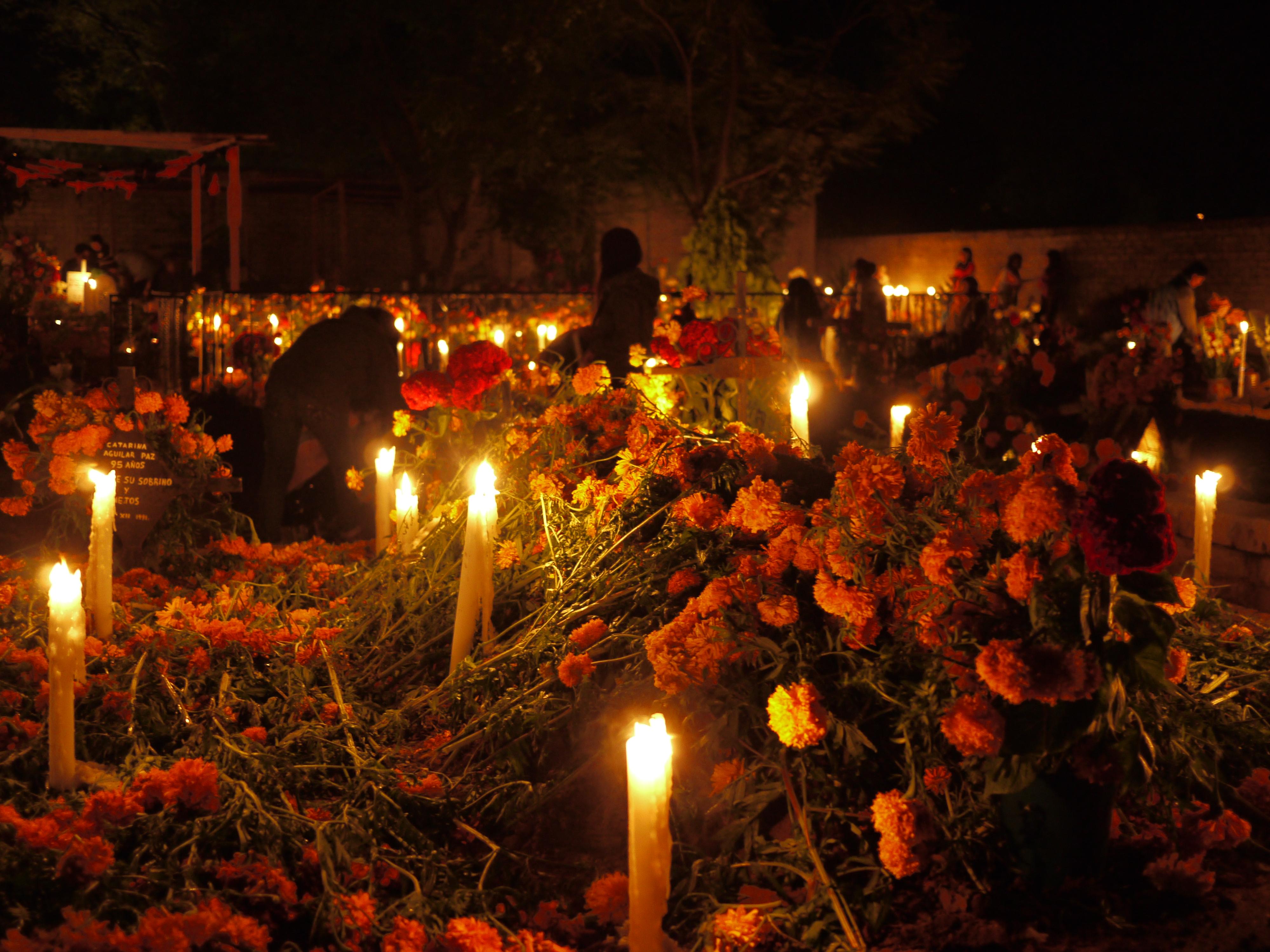 Dia De Los Muertos Under A Mexican Sky