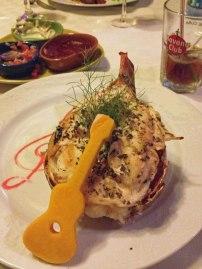 Lobster dinner, Trinidad
